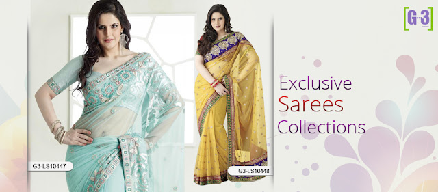 G3 Fashions Actress Sarees