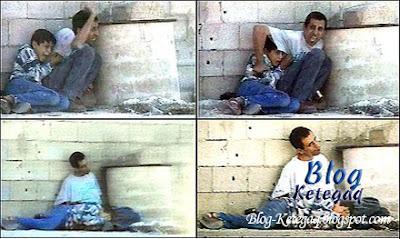 Sayangnya ayah pada anak di Palestine