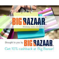 Big Bazaar 15% Cashback with Mobikwik Wallet + Rs. 200 BigBazaar e-gift voucher on Rs. 1500 purchase :Buytoearn