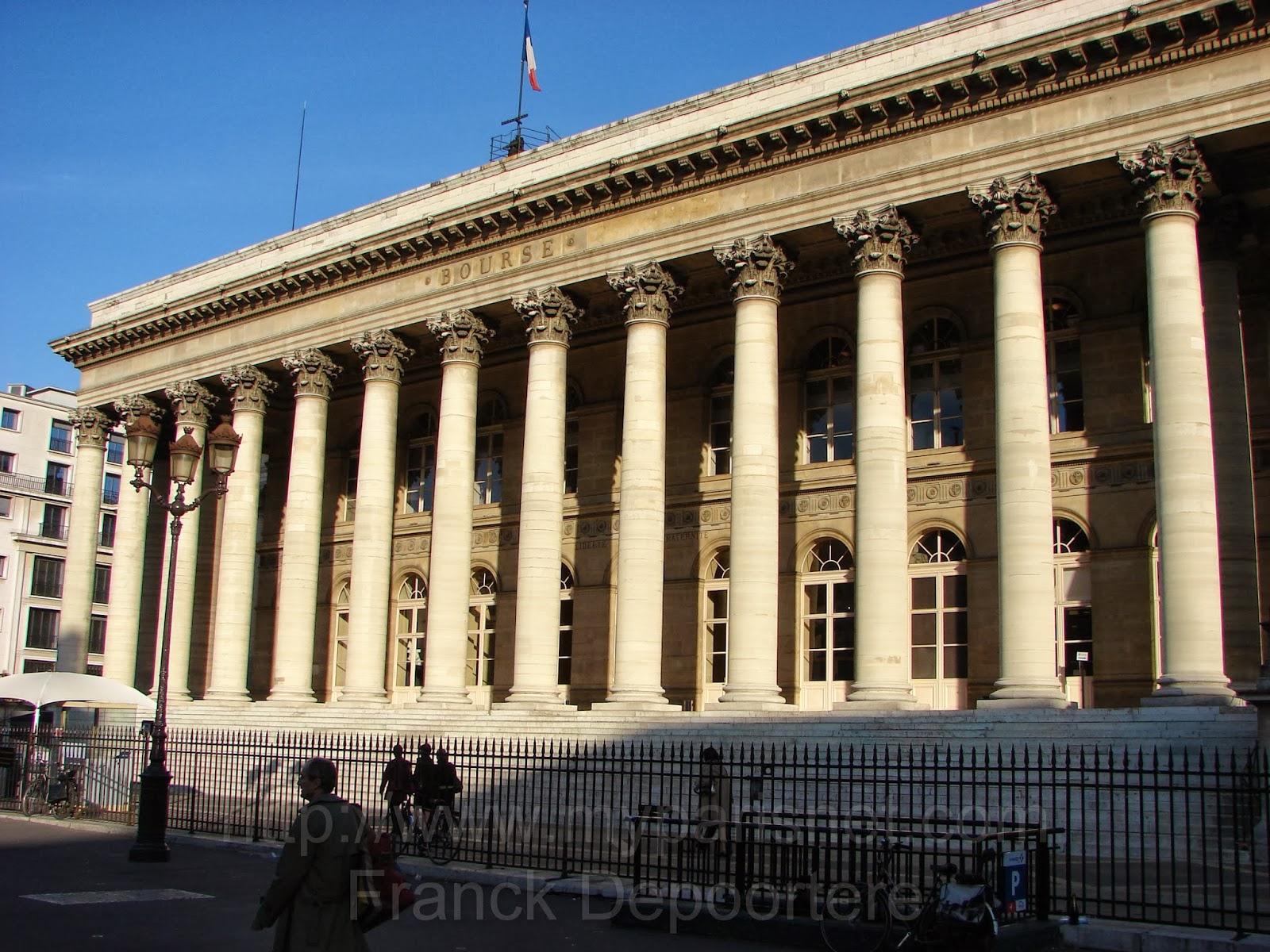 Photo binareo de la bourse de Paris