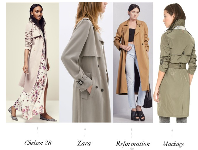 Four Favorite Trench Coats