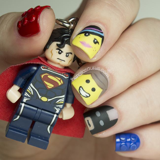 The Lego Movie Nail Art