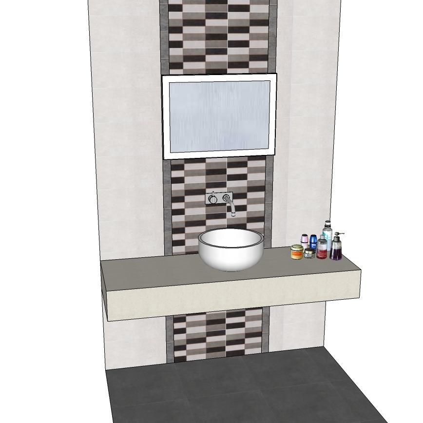 Espejo led ba o marco aluminio tu cocina y ba o for Espejo horizontal