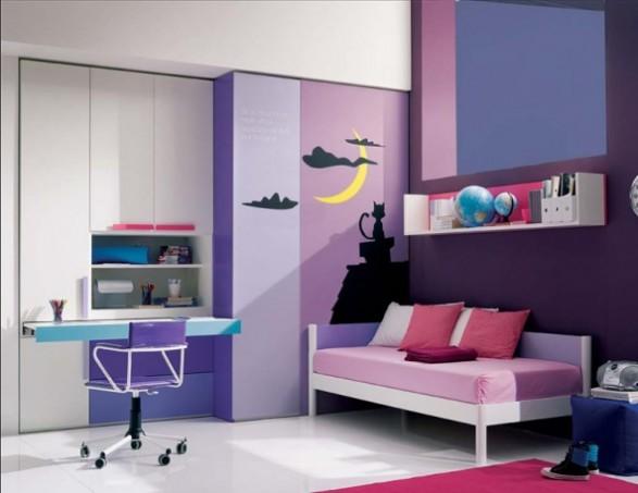 diseado utilizando la nueva lnea de muebles llamada xcab preciosas para nias con area de estudio