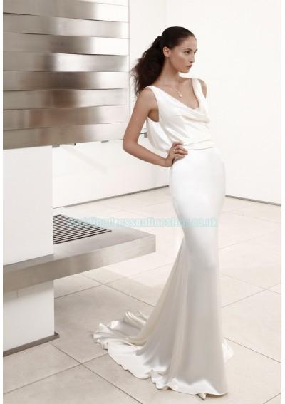 Wedding blog wedding dresses best seller for Satin cowl neck wedding dress