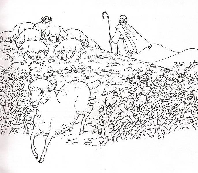 lost sheep parable coloring pages - photo#28