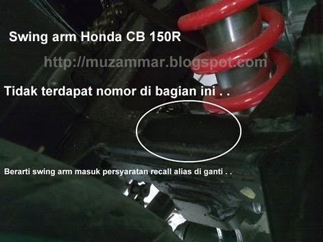 """Ini dia penyebab swing arm Honda CB 150R di """"recall"""" . . . tidak pada semua unit . . ."""