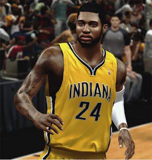 NBA 2K13 Paul George Cyberface Mod