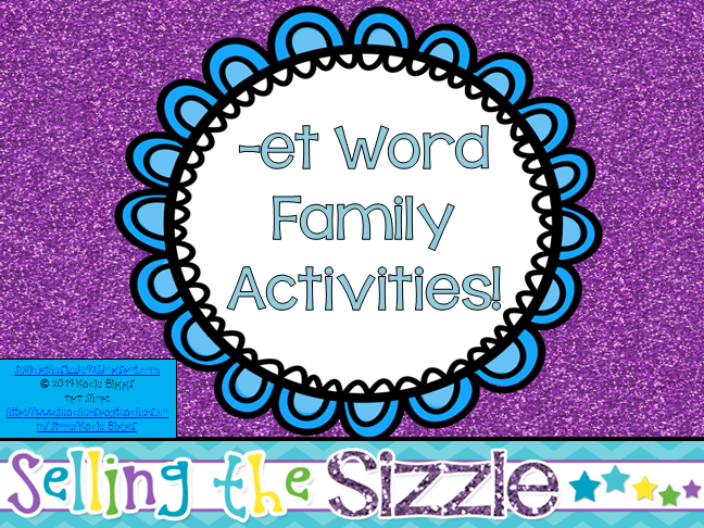 http://www.teacherspayteachers.com/Product/-et-Word-Family-Activities-1162902