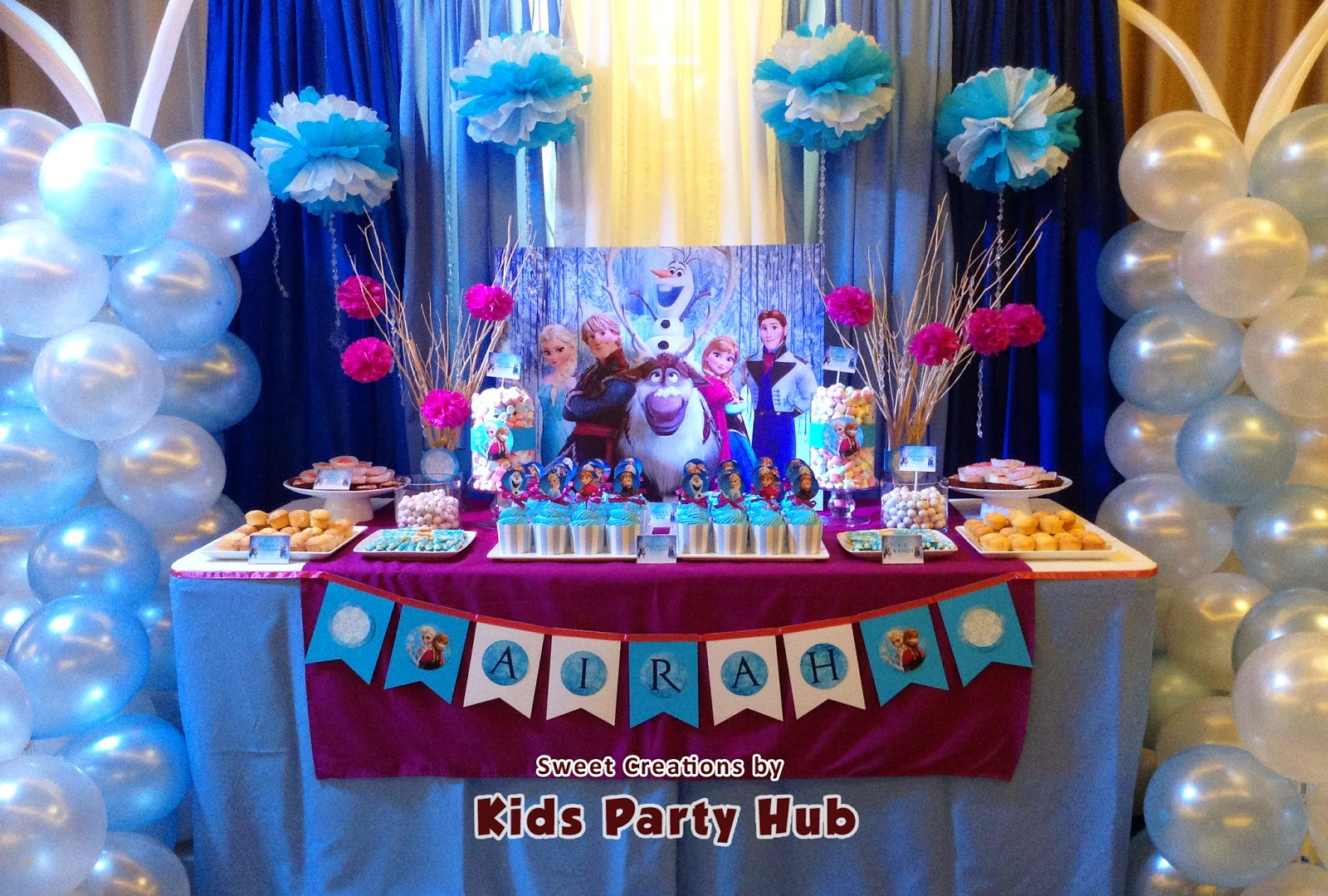 Kids party hub disney frozen themed party airah 39 s 7th for Decoration goods