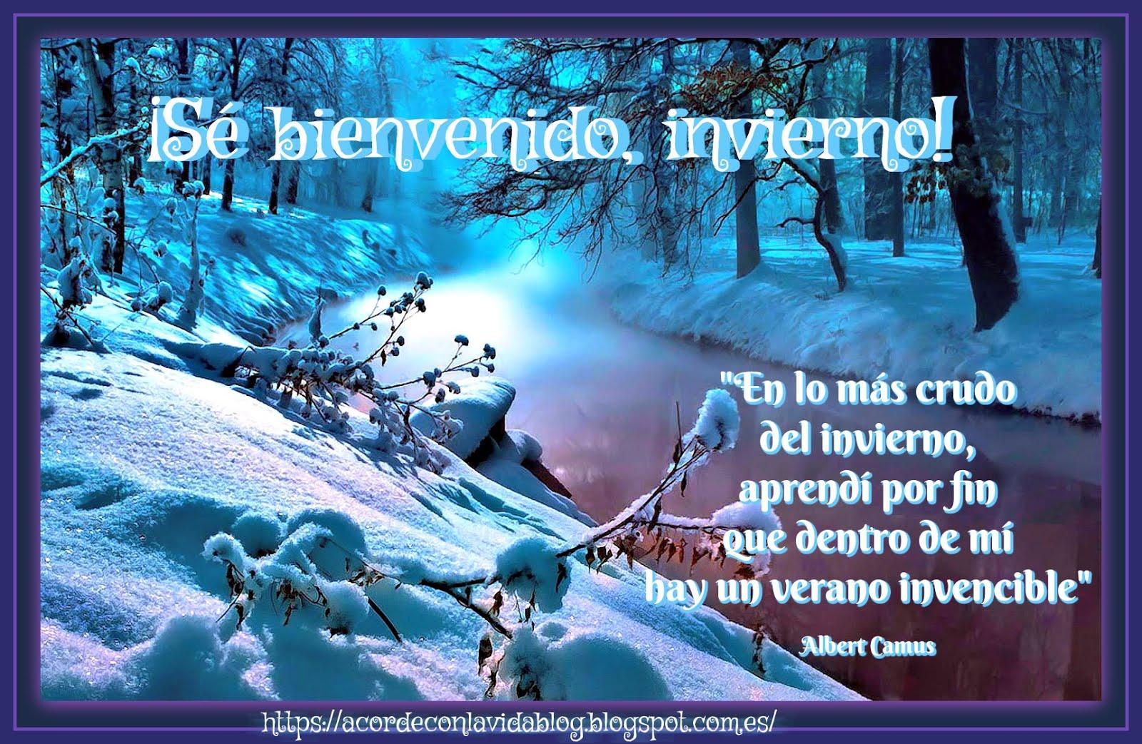 * ¡Bienvenido invierno!