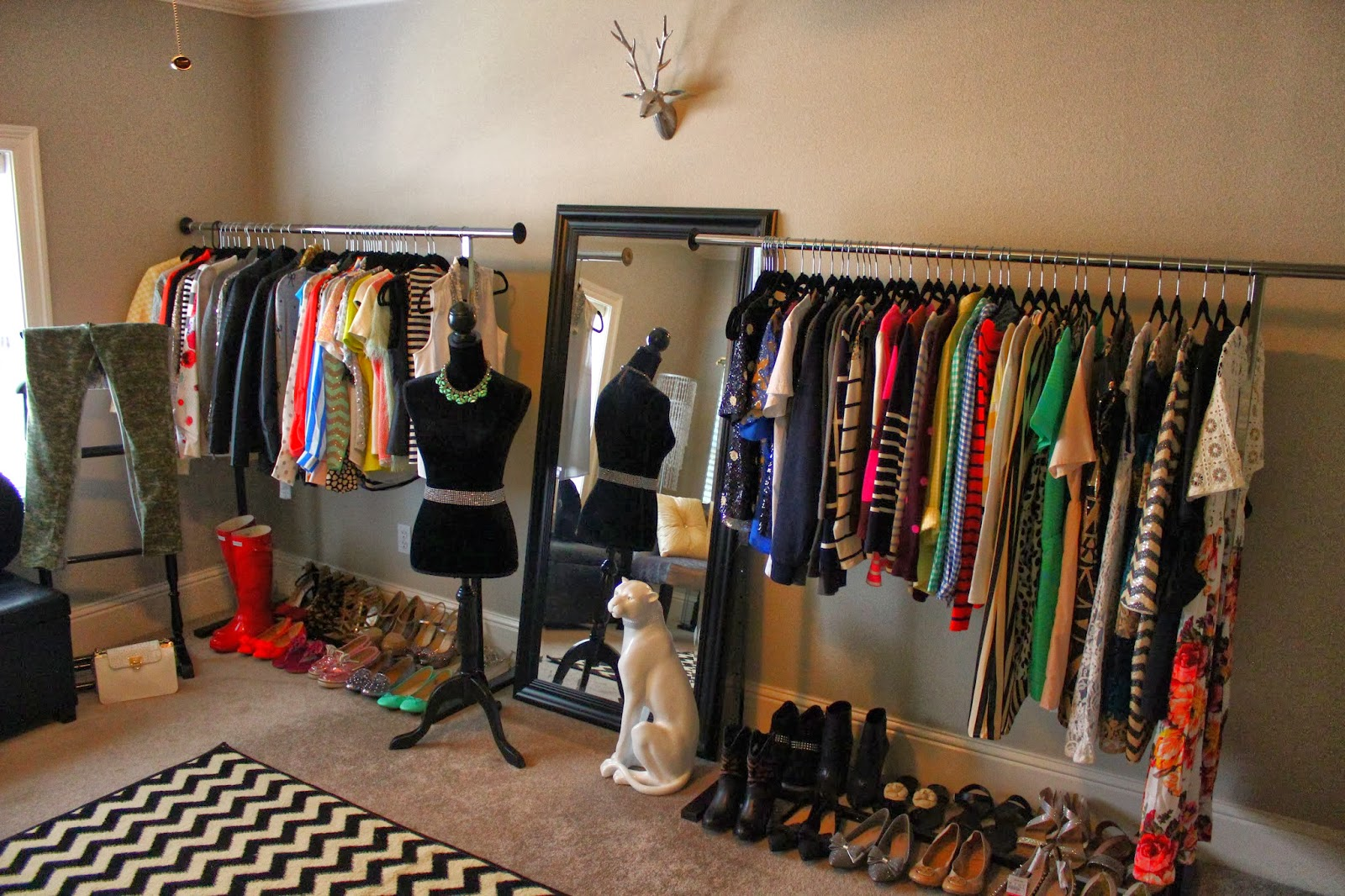 One Wall Of My Closet I Turned A Spare Bedroom Into A Closet Beautiful Places Pinterest Spare Bedroom Closets Vanities And Closet