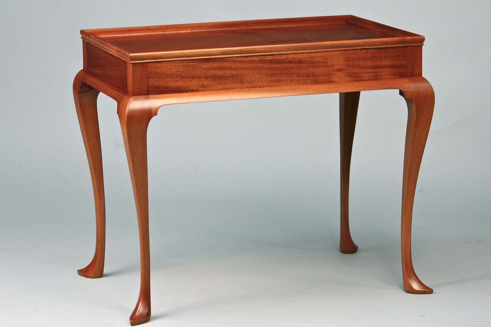 Doucette and wolfe fine furniture makers tea table for Reproduction furniture
