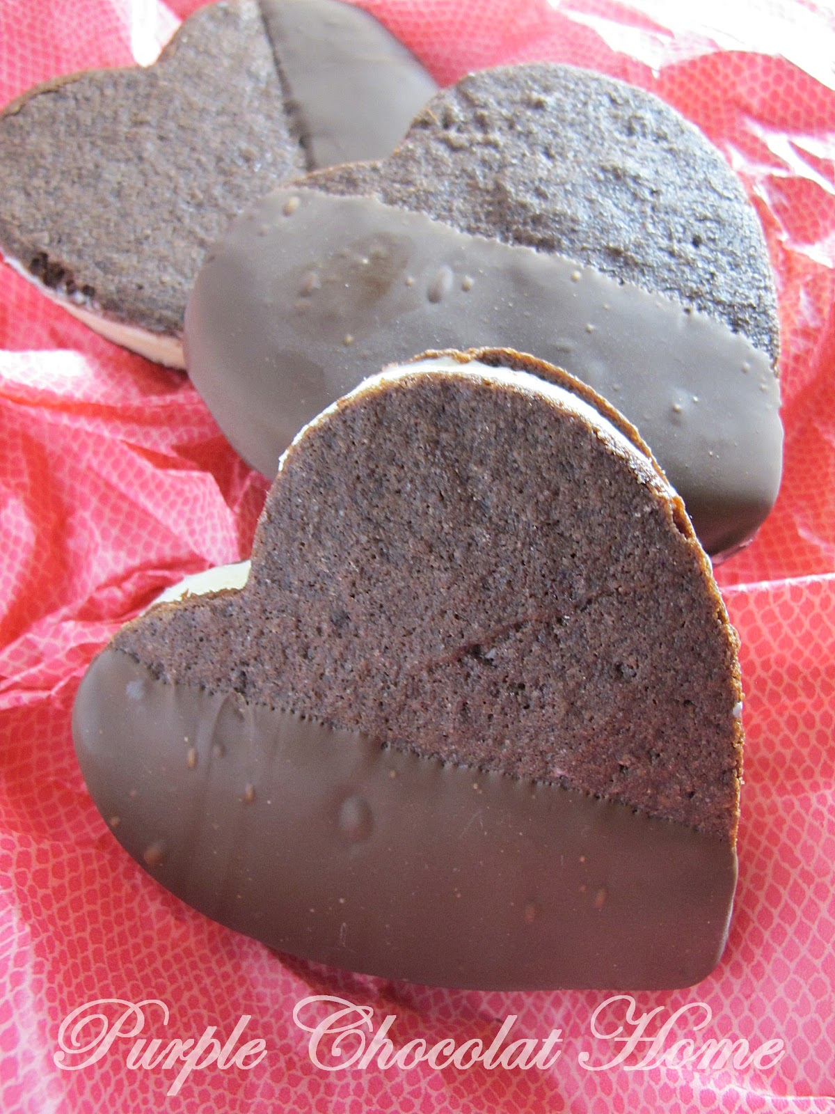 Purple Chocolat Home: Valentine's Ice Cream Sandwich Hearts