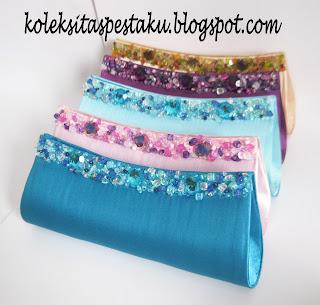 Clutch Bag Mewah Tas Pesta Payet Handmade