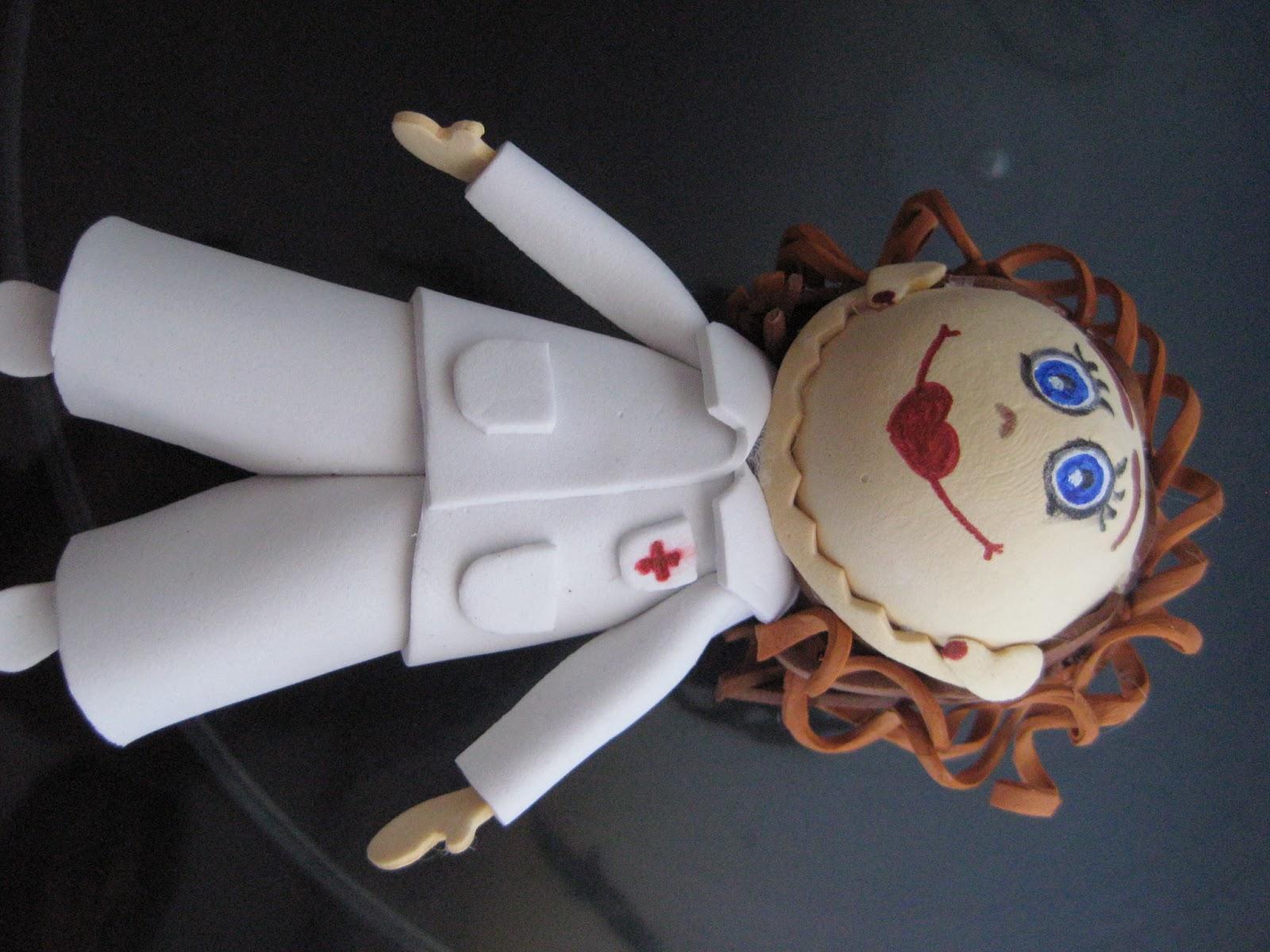 Manualidades Fofucha enfermera hecha a mano en Pozoblanco