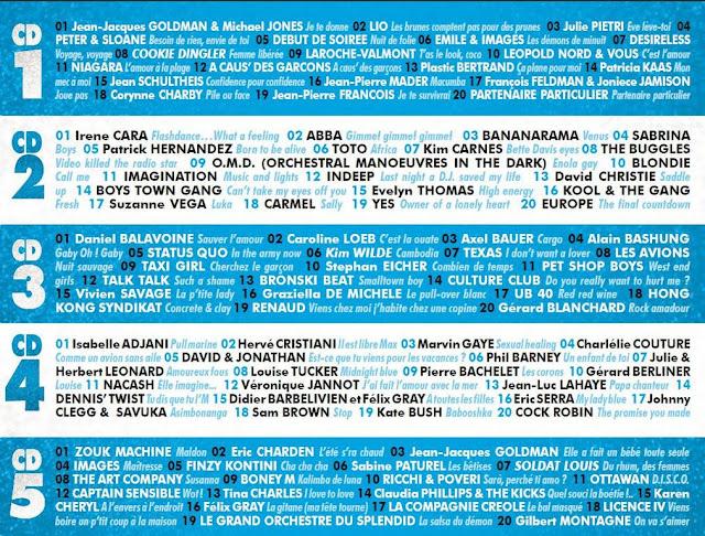 Stars 80 : la compilation officielle volume 2 - Tracklisting