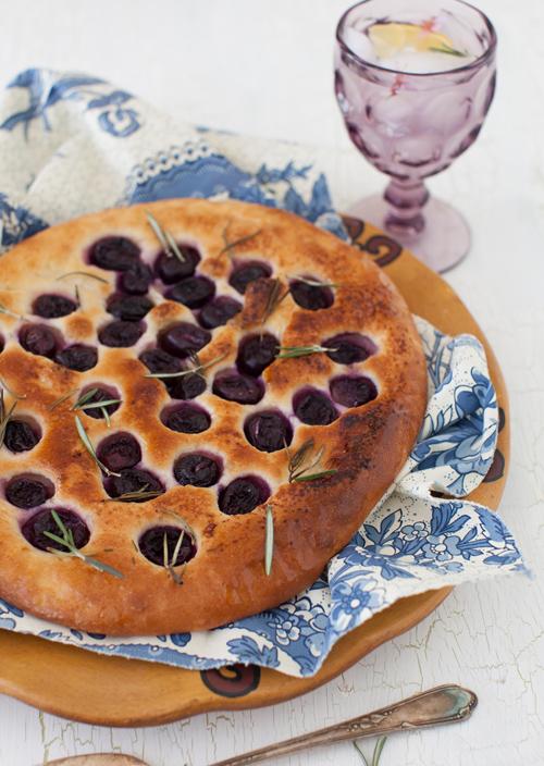 Grape Focaccia With Rosemary Recipe — Dishmaps