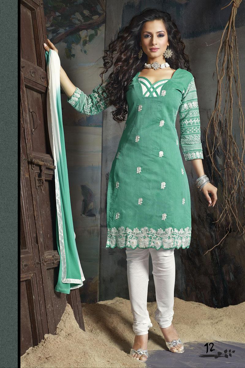 Ladies Embroidered Salwar Kameez - Indian Designer Suits - Helix ...
