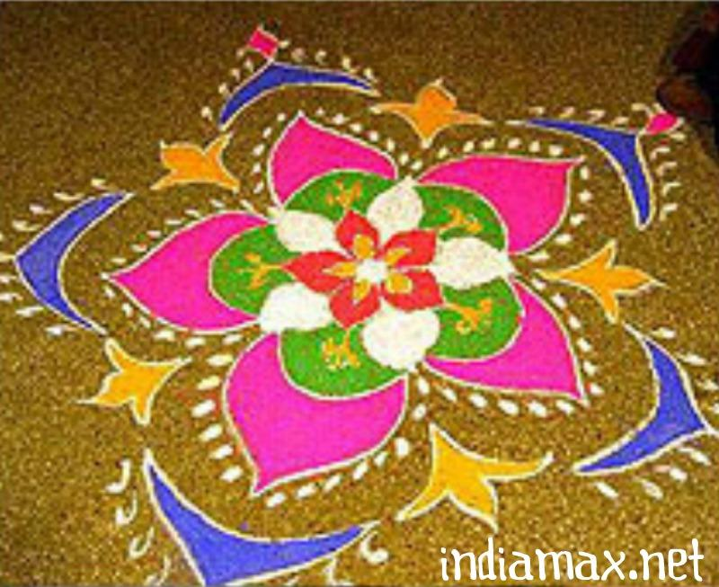 Rangoli Designs for Diwali Theme free Hand,Latest Deepavali Kolam