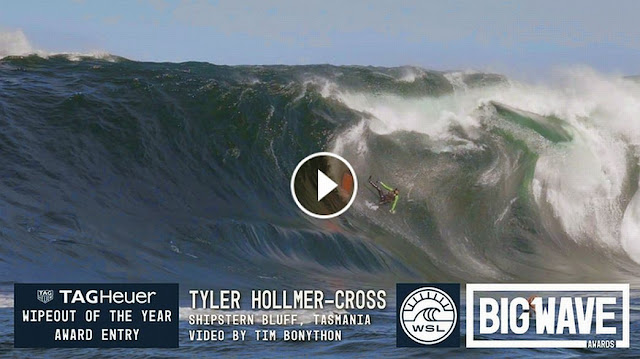 Tyler Hollmer-Cross at Shipsterns - 2016 TAG Heuer Wipeout of the Year Entry - WSL Big Wave Awards