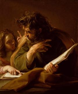 St. Matthew by Pompeo Batoni
