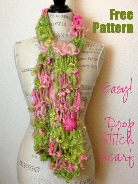 Knit Drop Stitch Scarf Pattern : Free Knitting Pattern: Easy Drop Stitch Scarf!   NobleKnits Knitting Blog