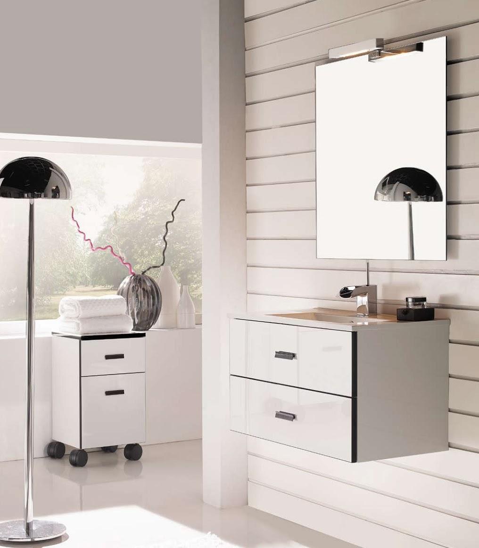 mueble baño blanco negro 40