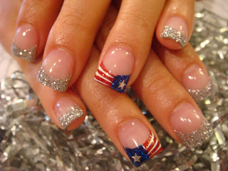 4th of july nail ideas cute 4th of july nails american flag with cute 4th of july nails american flag with sparkle tips solutioingenieria Images