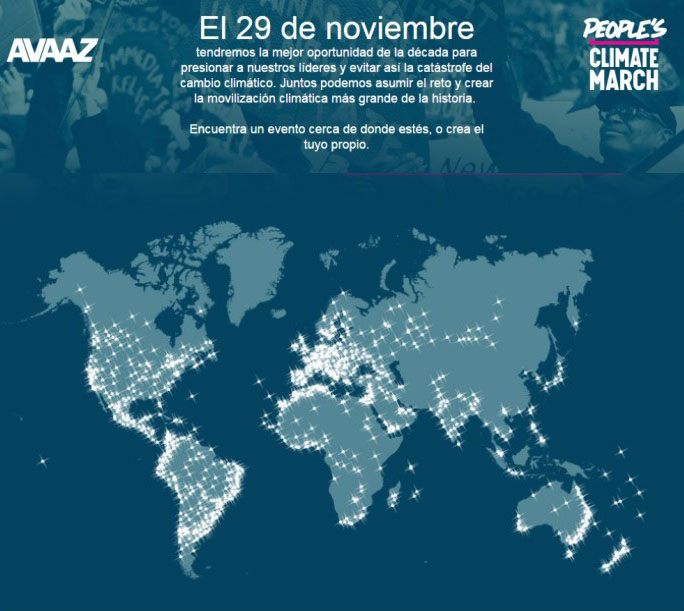MARCHA MUNDIAL POR EL CLIMA NOV. 2015