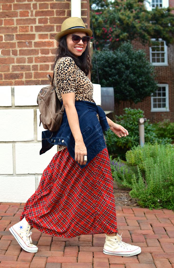 Wearing Tartan Skirt