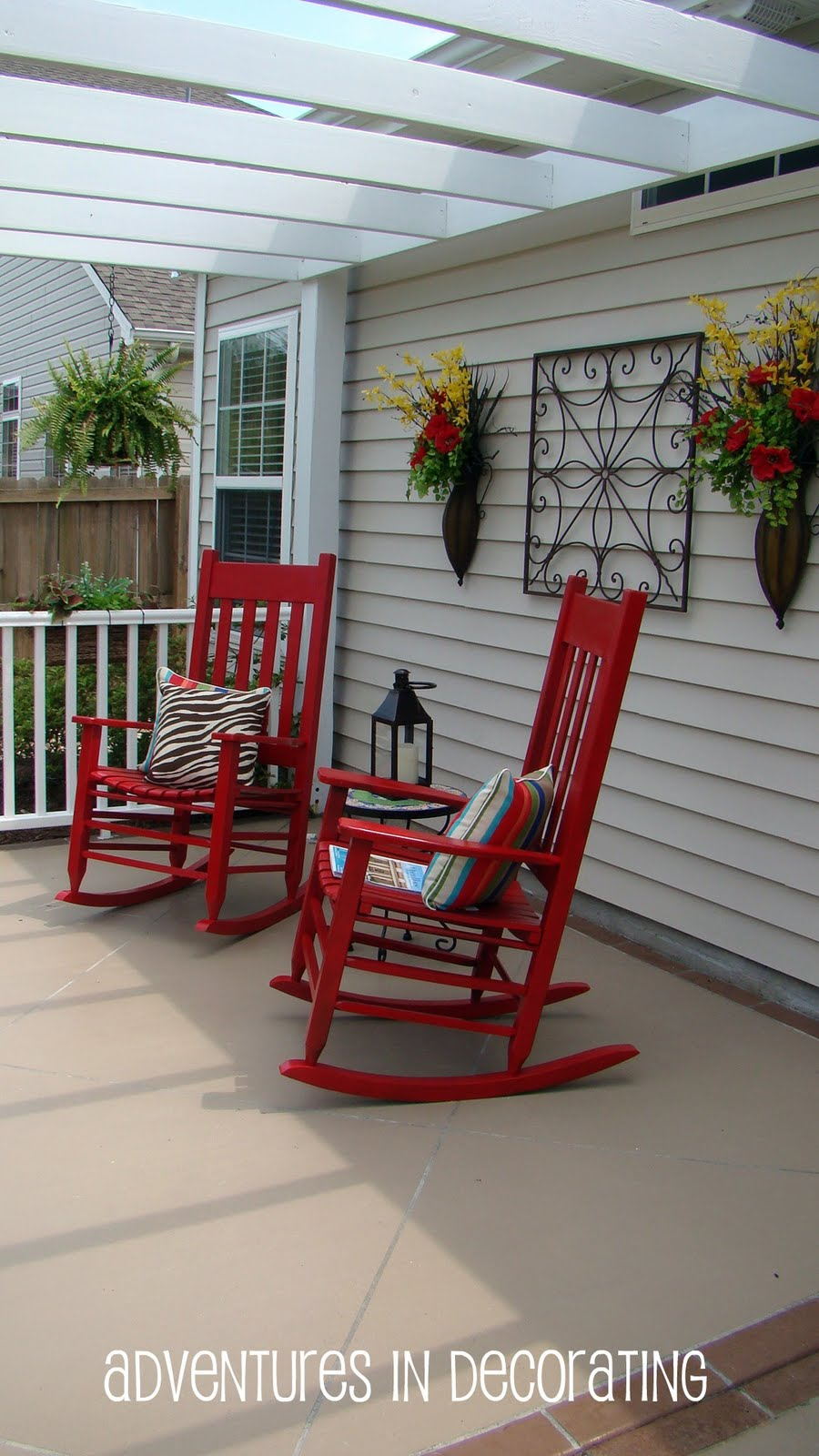 Red Rocking Chairs On Front Porch ~ Adventures in decorating red rocks pun intended