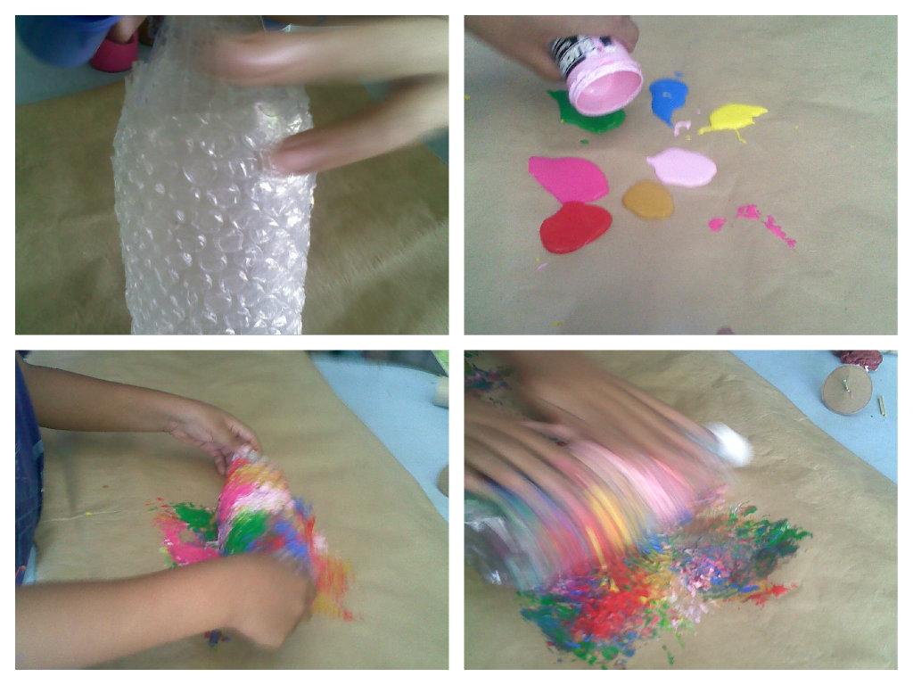 Mi peque o mundo pintura burbujas - Plastico de burbujas ...
