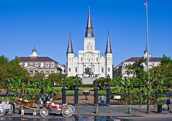 st louis cathedral jackson square new orleans louisiana
