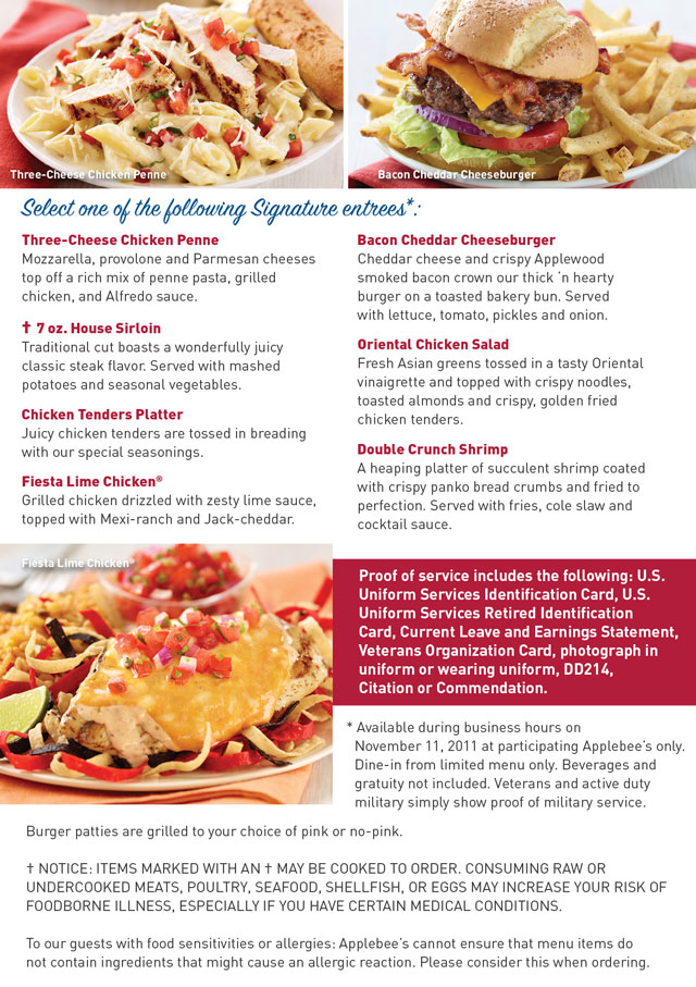 photo about Printable Applebees Menu referred to as Mommys Coupon Fairy: Absolutely free Signature Entree at Applebees