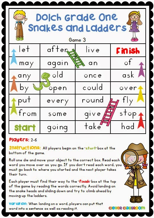 Fun sight word center games for K-3