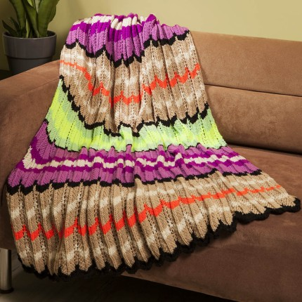 Modern Chevron Throw - Free Pattern