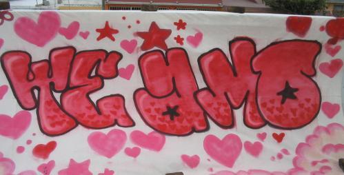 Imagenes graffitis digan te amo - Imagui