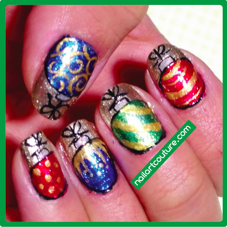 christmas ornament nail art - photo #8