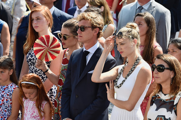 Prince Albert and Princess Charlene, Princess Stephanie, Charlotte Casiraghi, Camille Gottlieb, Pauline Ducruet, Princess Caroline, Andrea Casiraghi and Tatiana Casiraghi, Prince Jacques and Princess Gabriella, Pierre Casiraghi and Beatrice Borromeo, Louis Ducruet