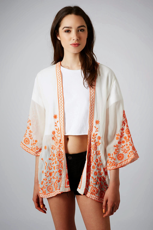 embroidered kimono