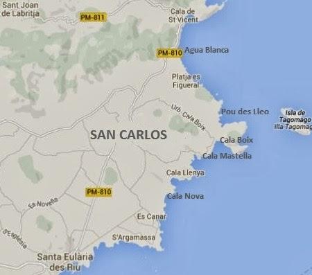 Map of San Carlos Ibiza