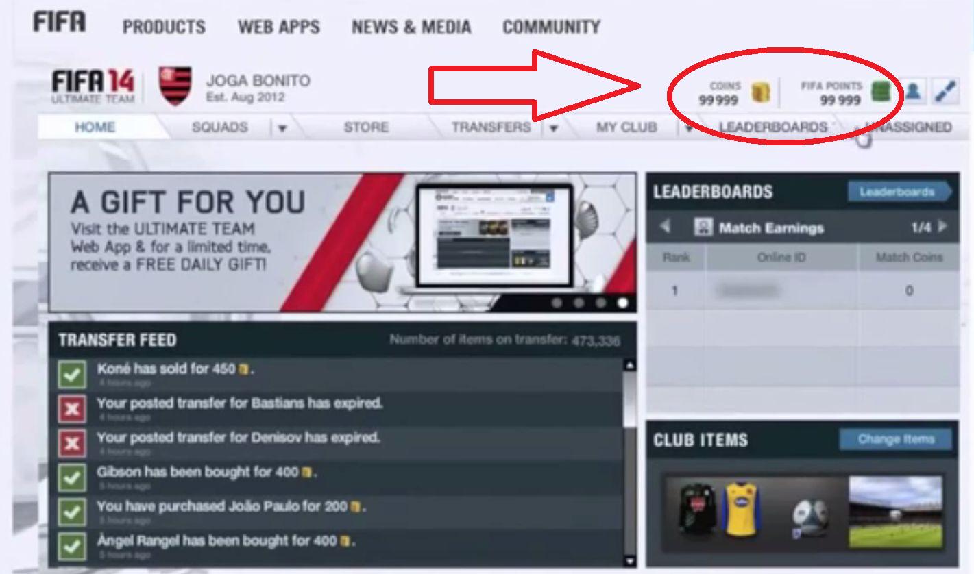Générateur de crédits FIFA 14 ultimate team gratuit