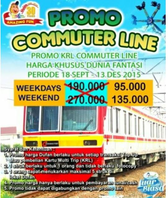 Dufan Promo Cummuter Line 18  September - 13 Desember 2015 Diskon 50%
