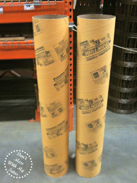 Ready Made Pillars : Don t mess with my tutus lo cost cardboard column tutorial