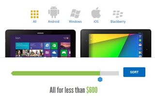Compare Tablet Specifications Online