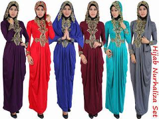 Hijab Nurhaliza Set fit L besar