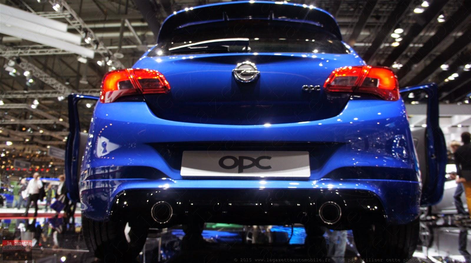 Genève 2015 Opel Corsa E OPC