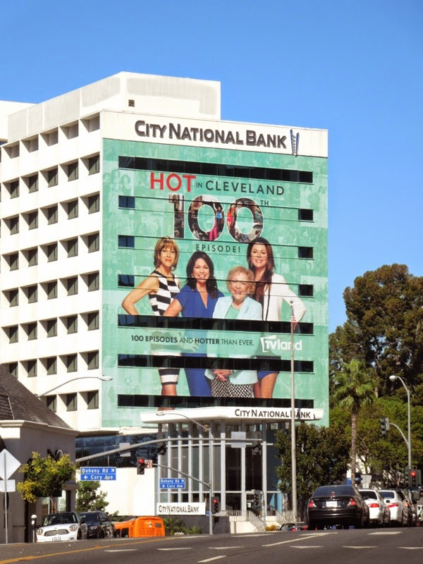 Giant Hot in Cleveland 100th episode billboard