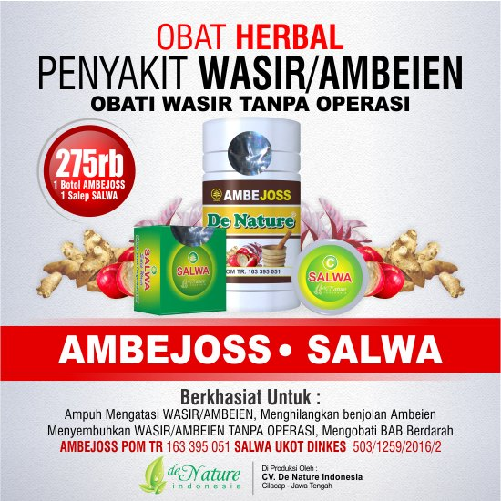 KAPSUL AMBEJOSS & SALEP SALWA (Obat Ambeien Herbal Tanpa Operasi)